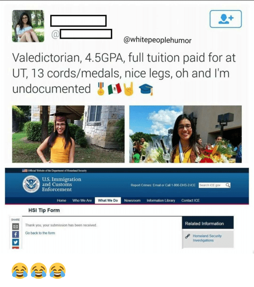 People Humor Valedictorian 45GPA Full Tuition Paid For At