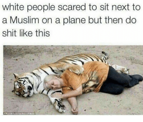 White People Scared to Sit Next to a Muslim on a Plane but Then Do