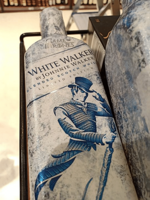 Memes, White, and 🤖: WHITE WALKER  BY JOHNNIE WALKER  LENDED scOTCH WHI  LIM., E D EDITION