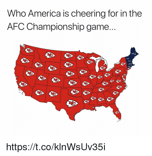 AFC Championship Game, America, and Game: Who America is cheering for in the  AFC Championship game https://t.co/klnWsUv35i