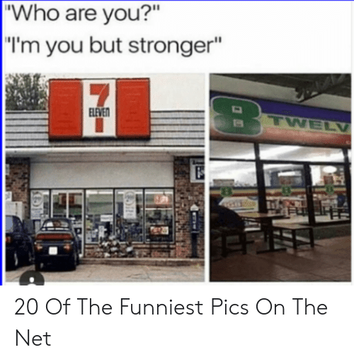 """Net, Who, and Pics: """"Who are you?""""  """"I'm you but stronger""""  LEVE 20 Of The Funniest Pics On The Net"""