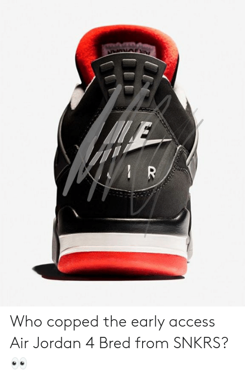 Copped the Access Air Who SNKRS Jordan 4 Early Bred From m0wON8nv