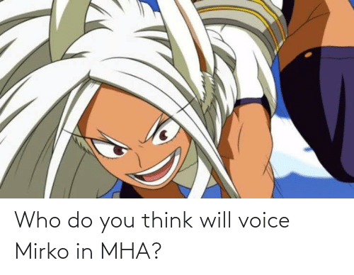 Who Do You Think Will Voice Mirko In Mha Anime Meme On Me Me