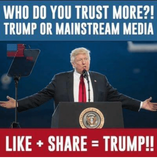 Image result for Do You Trust The Mainstream Media?