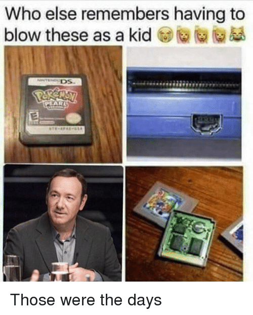Memes, 🤖, and Blow: Who else remembers having to  blow these as a kid t)@向@愚 Those were the days