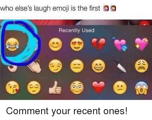 Who Else's Laugh Emoji Is the First QQ Recently Used ...