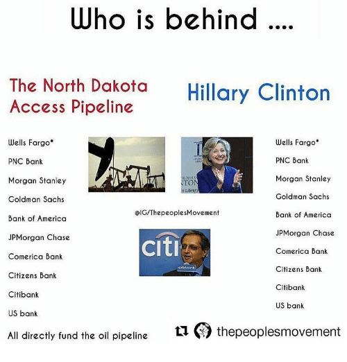 Who Is Behind the North Dakota Hillary Clinton Access Pipeline Wells