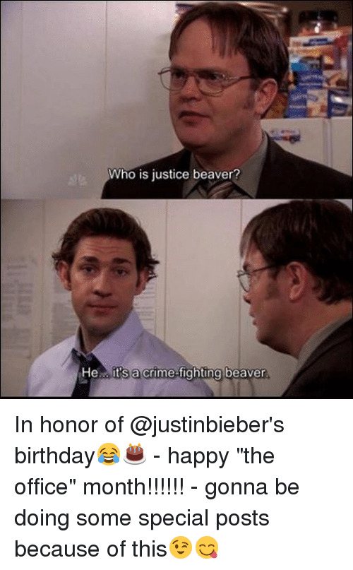 Who Is Justice Beaver He Its A Crime Fighting Beaver In Honor Of