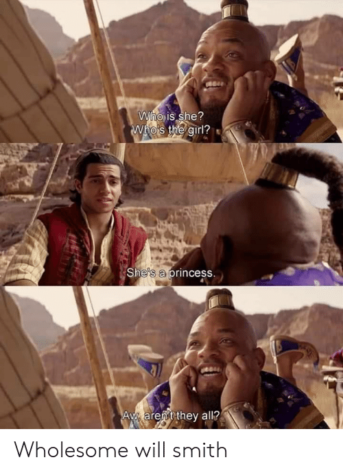 Will Smith, Girl, and Princess: Who is she?  Who's the girl?  She's a princess.  Aw arent they all? Wholesome will smith