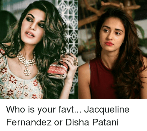 Memes, 🤖, and Jacqueline Fernandez: Who is your favt...  Jacqueline Fernandez or Disha Patani