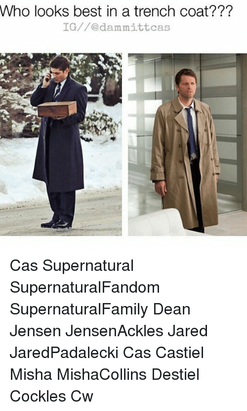 who looks best in a trench coat ig dammit cas 19840694 who looks best in a trench coat??? ig dammit cas cas supernatural