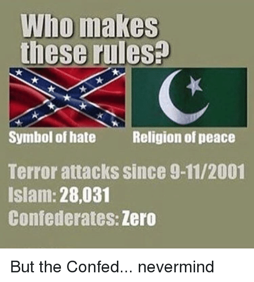 Who Makes These Rules Symbol Of Hate Religion Of Peace Terror