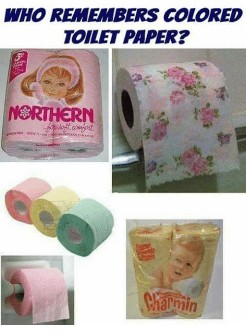 WHO REMEMBERS COLORED TOILET PAPER? NORTHERN Charmin ...