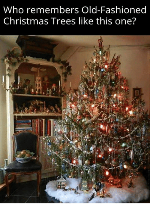 old fashioned christmas - What To Do With Old Christmas Trees