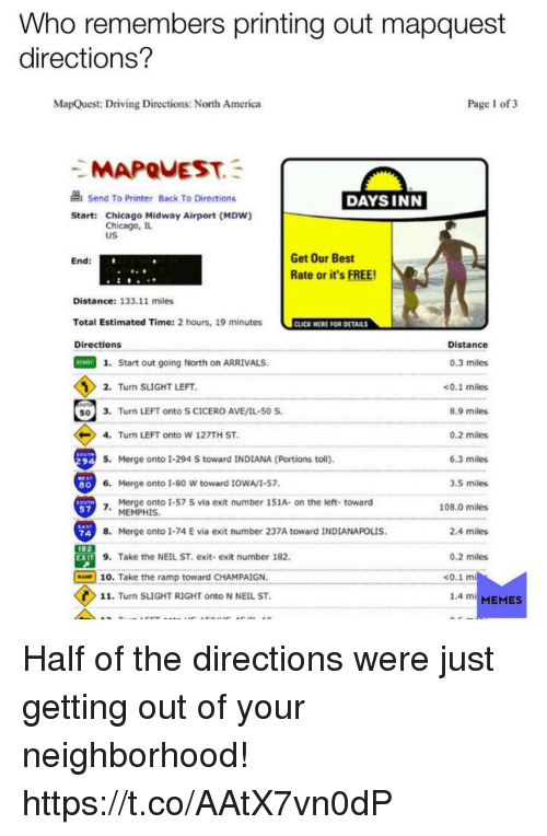 Who Remembers Printing Out Mapquest Directions? MapQuest Driving