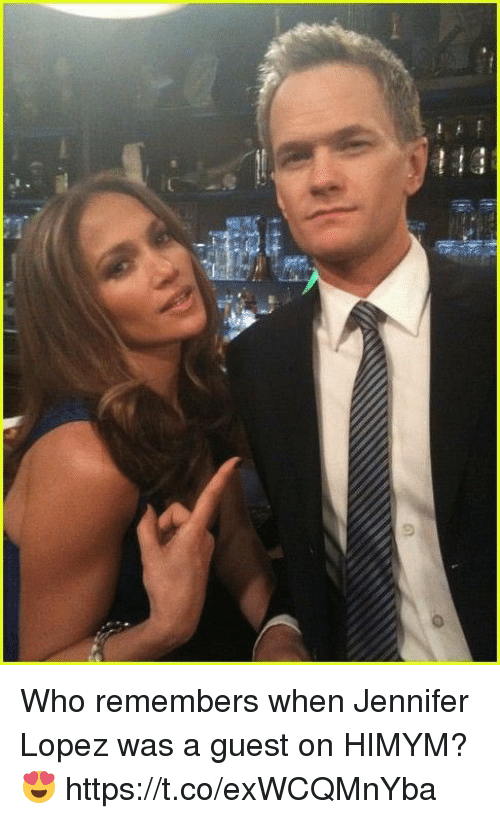 Jennifer Lopez, Memes, and 🤖: Who remembers when Jennifer Lopez was a guest on HIMYM? 😍 https://t.co/exWCQMnYba