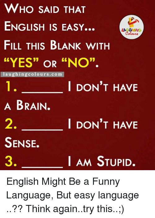 english is a funny language