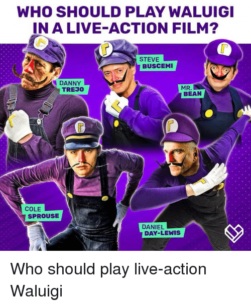 WHO SHOULD PLAY WALUIGI IN a LIVE-ACTION FILM? STEVE BUSCEMI