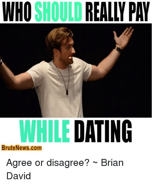 Who should really pay while dating