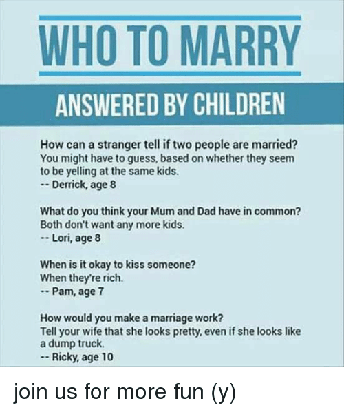 How to tell if someone is married