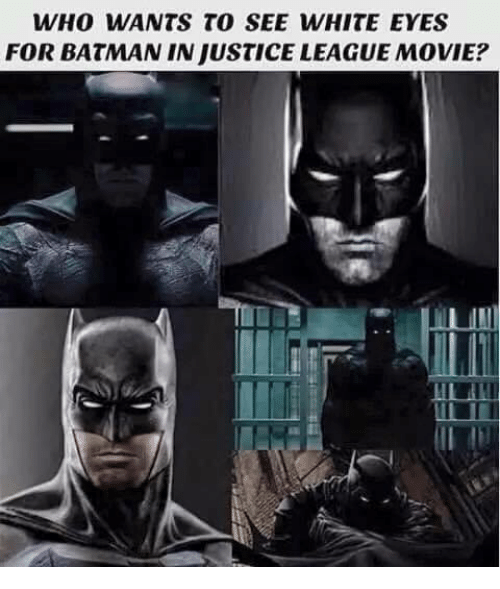 WHO WANTS TO SEE WHITE EYES FOR BATMAN INJUSTICE LEAGUE