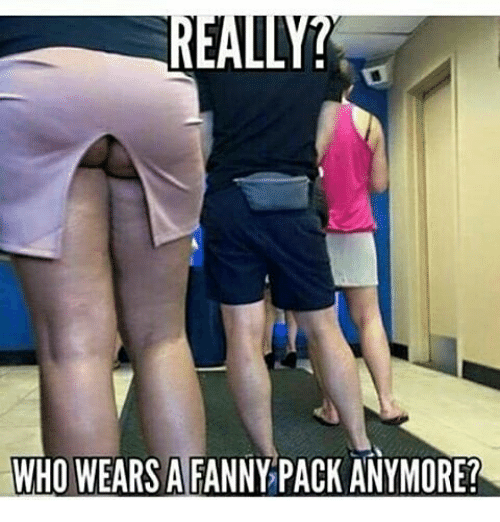 Who Wears A Fanny Pack Anymore Meme On Meme
