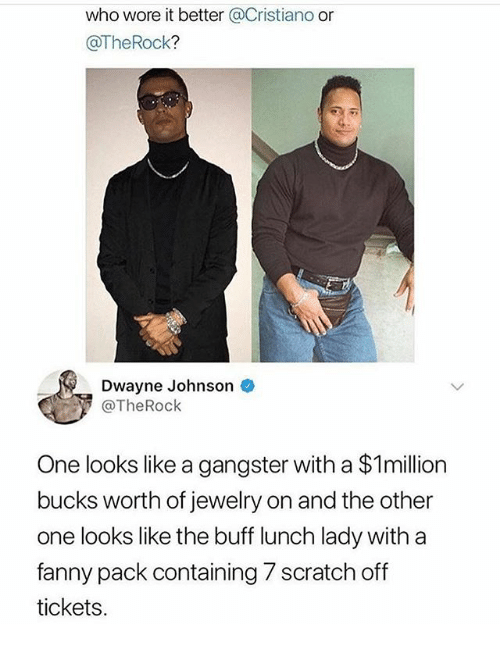 Who Wore It Better Or Dwayne Johnson One Looks Like A Gangster With