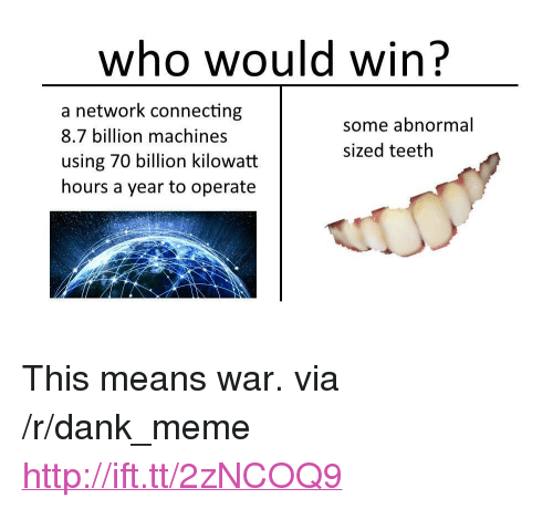 Dank Meme And Http Who Would Win A Network Connecting 87 Billion