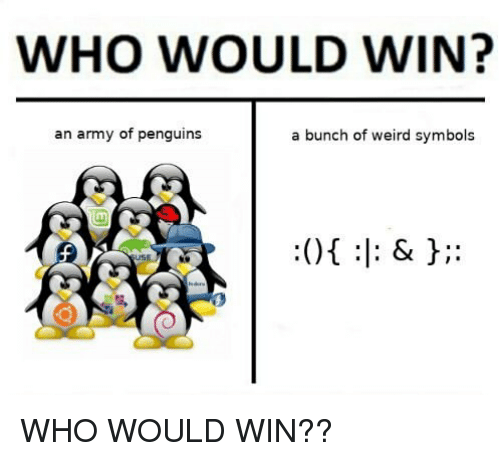 WHO WOULD WIN? An Army of Penguins a Bunch of Weird Symbols | Weird