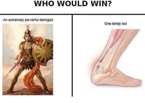 Powerful, Boi, and Who: WHO WOULD WIN?  An extremely powerful demigod  One tendy boi