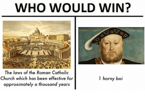 Church, Horny, and Catholic: WHO WOULD WIN?  ANG REX  st.  The laws of the Roman Catholic  Church which has been effective for  approximately a thousand years  1 horny boi