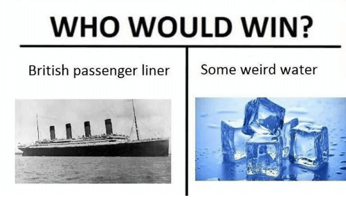 Weird, Water, and British: WHO WOULD WIN?  British passenger liner Some weird water
