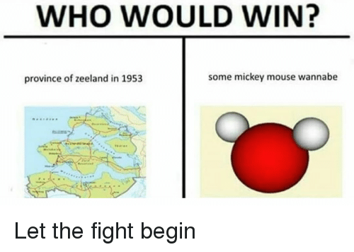 Reddit, Wannabe, and Mickey Mouse: WHO WOULD WIN?  province of zeeland in 1953  some mickey mouse wannabe