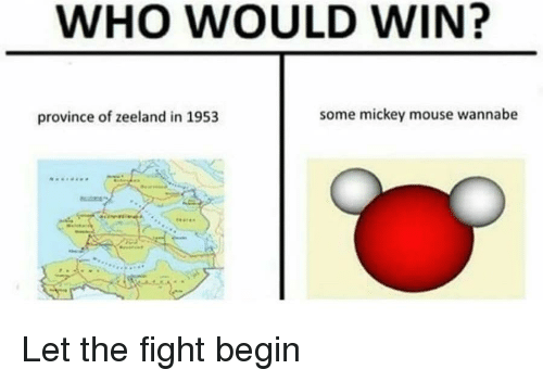 Wannabe, Mickey Mouse, and Mouse: WHO WOULD WIN?  province of zeeland in 1953  some mickey mouse wannabe