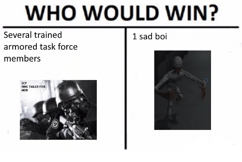 WHO WOULD WIN? Several Trained Armored Task Force Members 1