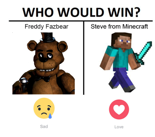 who-would-win-steve-from-minecraft-fredd
