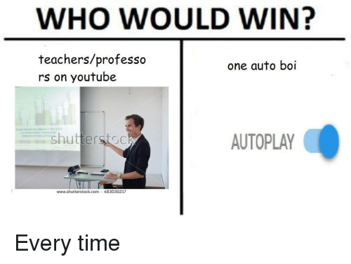 who would win teachersprofesso rs on youtube one auto boi
