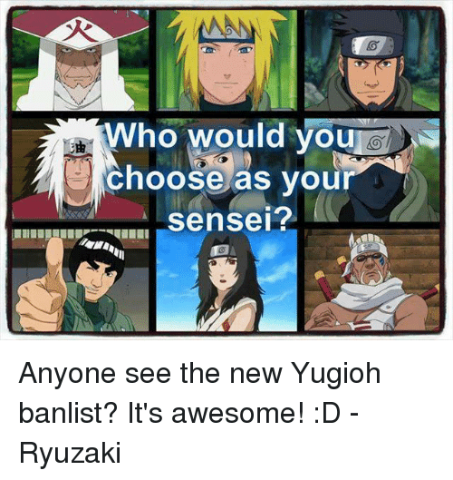 Who Would You Choose as Your Sensei? Anyone See the New Yugioh