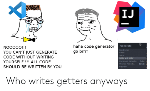 Who and Anyways: Who writes getters anyways