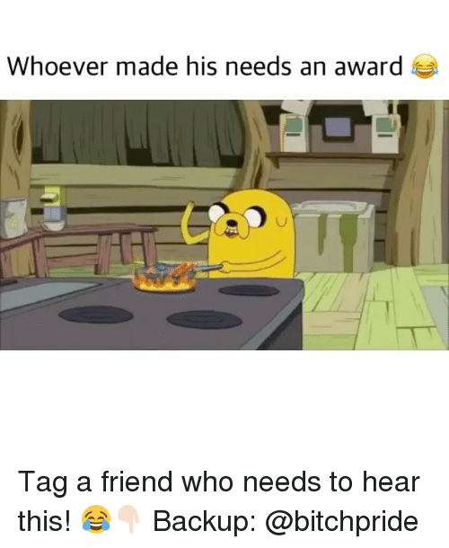 Memes, 🤖, and Hearing: Whoever made his needs an award Tag a friend who needs to hear this! 😂👇🏻 Backup: @bitchpride
