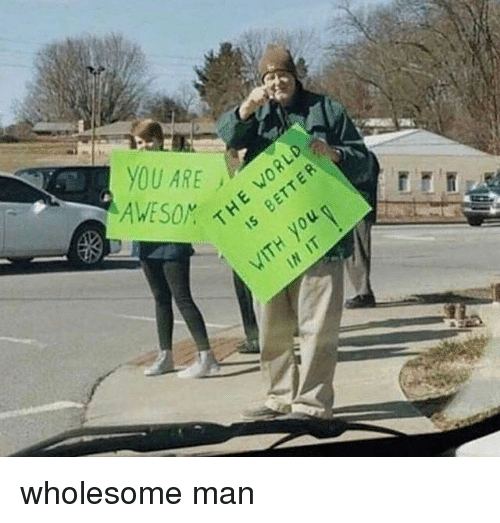 Wholesome and Man: wholesome man