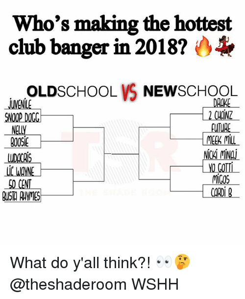 Who's Making the Hottest Club Banger in 2018? OLDSCHOOL VS NEWSCHOOL