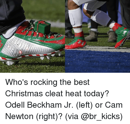 Who\'s Rocking the Best Christmas Cleat Heat Today? Odell Beckham Jr ...