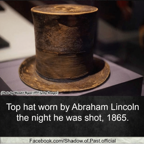 Whot by Wandel NgantrFPGetty Images Top Hat Worn by Abraham Lincoln ... 0edee5ce7a9