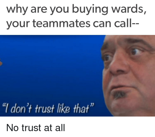 Why Are You Buying Wards Your Teammates Can Call I Dont Trust