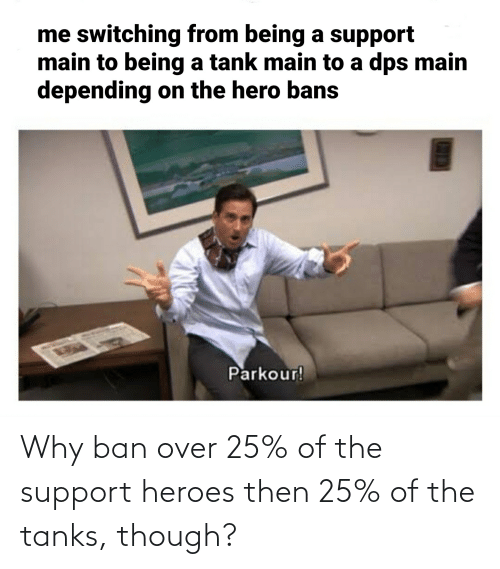 Heroes, Tanks, and Why: Why ban over 25% of the support heroes then 25% of the tanks, though?