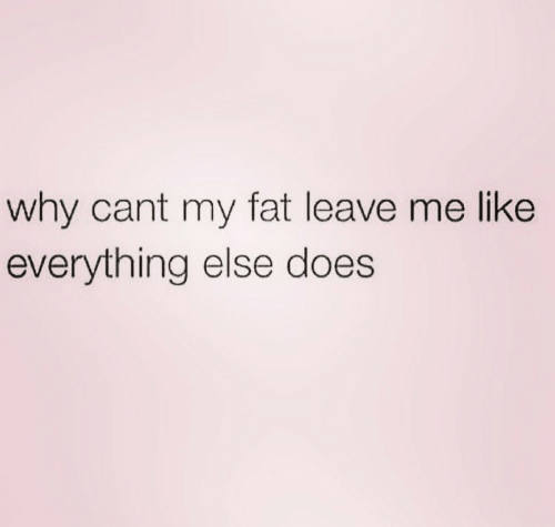 Fat, Why, and Like: why cant my fat leave me like  everything else does