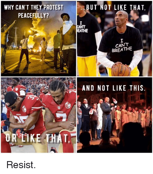 WHY CAN'T THEY PROTEST BUT NOT LIKE THAT PEACEFULLY? C ...