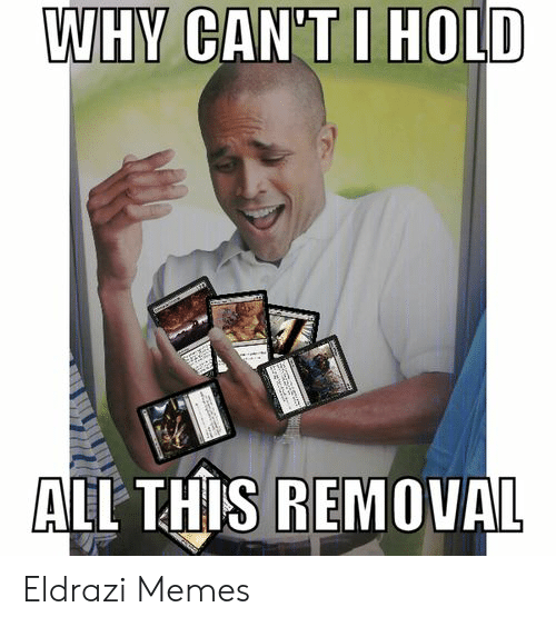 WHY CAN'TI HOLD ALL THIS REMOVAL a Eldrazi Memes   Meme on ME ME
