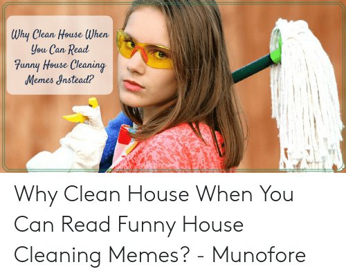 Why Clean House When You Can Read Funny House Cleaning Memes